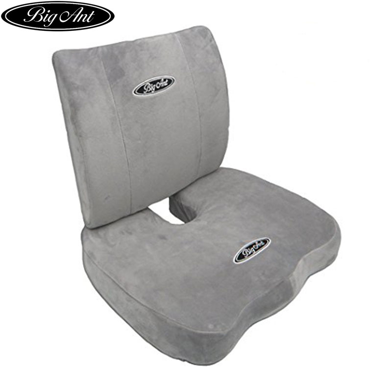 Big Ant Orthopedic Memory Foam Seat Cushion and Lumbar Support Pillow for Office Chair and Car Seat with Washable Cover Set of 2