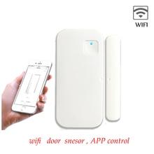 WIFI חכם App שלט דלת חלון חיישן אלחוטי אבטחת אזעקה לבית