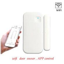 WIFI inteligentny czujnik drzwi okno aplikacja bezprzewodowa pilot zdalnego sterowania dla alarmowego w domu