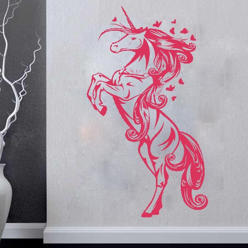 ZN G009 Unicorn Винилді қабырға жапсырмалар - Үйдің декоры - фото 2