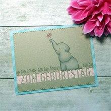 YaMinSanNiO German Zum Geburtstag Dies Metal Cutting Letter Word Scrapbooking for Card Making Craft Embossing