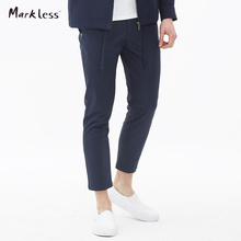 Markless 2016 Autumn New Fashion Men's Pencil Pants Male Casual Slim Ankle-Length Pants Thin Skinny Trousers