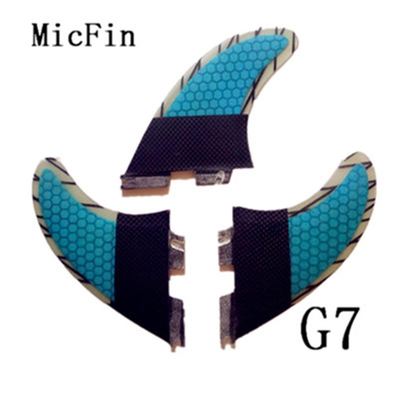 2018 ailerons de SURF FCS II G7 de haute qualité avec peigne en fibre de verre pour le SURF (trois jeux) G7 FCS2