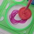 2 Шт./компл. Spirograph Геометрических Правитель Обучения Инструмент Для Рисования Канцелярские Для Студентов Рисунок Установить Творческий Подарок
