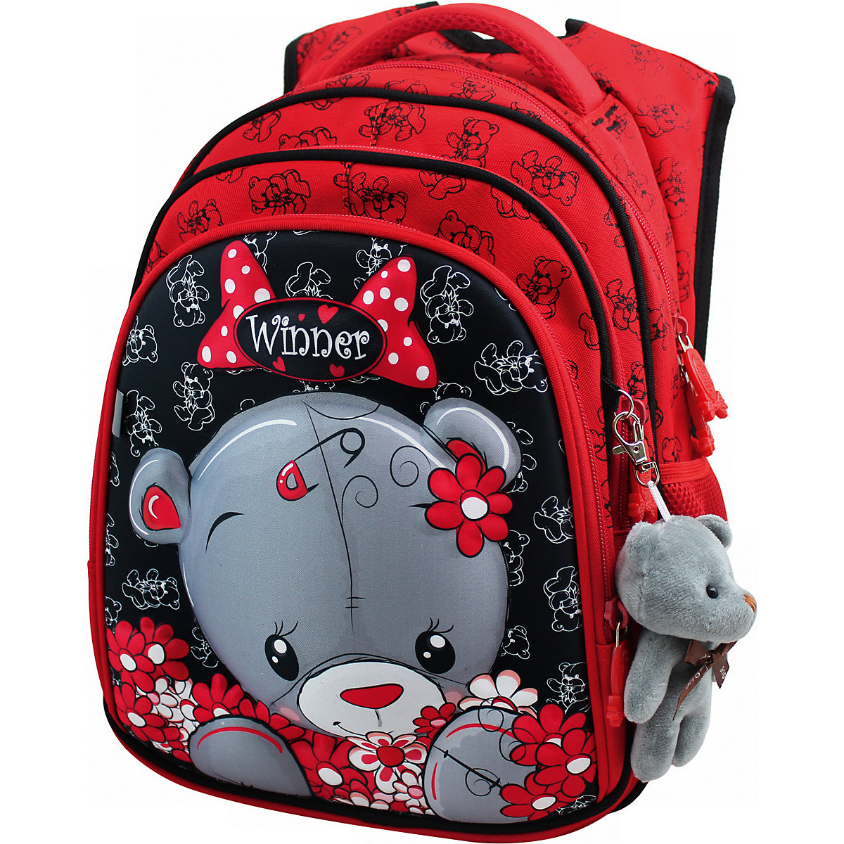 WINNER School Bags 11393766 schoolbag backpack orthopedic bag for boy and girl animals large capacity pu leather unisex backpack fashion school bags for teenager women men travel backpacks high quality shoulders bag