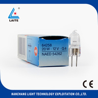 מקורי 64258 12 V 20 W אנליטית הכימיה analyzer 340nm-700nm NAED 54262 הנורה 12 V 20 W G4 UV טונגסטן מנורת הלוגן 64258-C