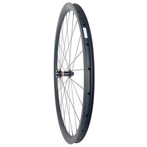 Image 5 - 1220g 29er MTB XC GRAVEL tubeless carbon wheels 30mm wide 25mm inner width 30mm deep center lock 6 bolt wheelset 15X100 12x142