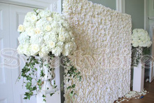 8ft x 8ft Wedding Rose with Hydrangea Flower Wall Flower Backdrop with  aluminium pipe stand Wedding Decoration