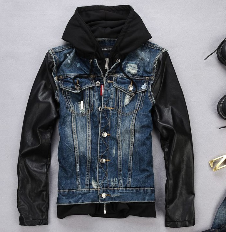 Leather Jean Jacket - Coat Nj