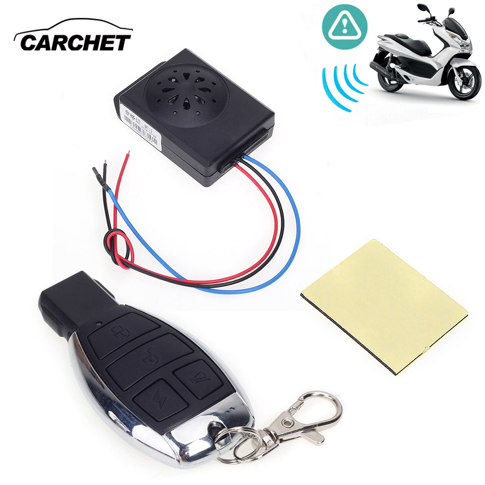 CARCHET Motorcycle Anti-theft Security Alarm System with Remote Control DC 12V Motorbike Bike Moto Scooter Motor Alarm System carchet motorcycle anti theft security alarm system burglar alarm remote control security engine antifurto moto sirena