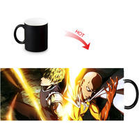ONE PUNCH-MAN Print Color Change/Changing Ceramic Morph Mug Heat Sensitive Porcelain Morphing Mugs Coffee Tea Milk Cups 3