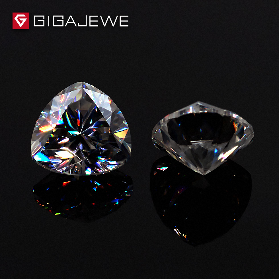 GIGAJEWE 0 5ct 5mm EF Color Trillion Cut Moissanite Stone DIY Gem Charms DIY Beads For