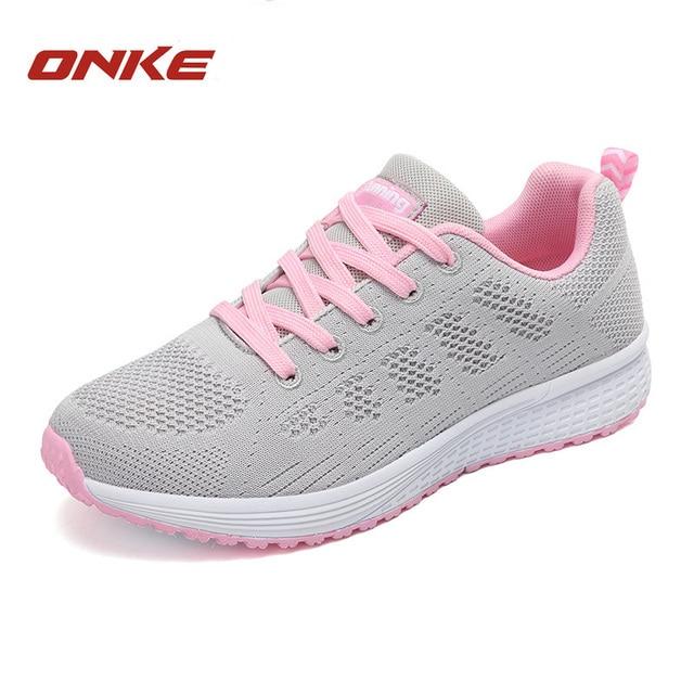 Pink Sepatu Lari Wanita Canggih Bantalan Wanita Running Sepatu Olahraga  Outdoor Sepatu Camping Ultra Light Trekking 6f9c8c0cd5