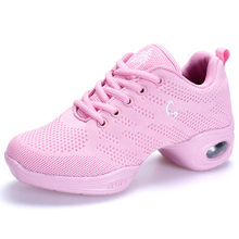 цена на New 2018 Women Dance Shoes Feature Flying Wire Weaving Soft Outsole Breath Girls Practice Modern Jazz Dance Shoes Sneakers