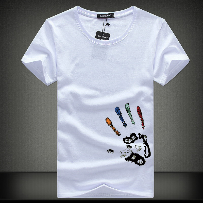 New Mens T Shirts Fashion Summer O-Neck Slim Fit Short Sleeve T Shirt Men Mercerized Cotton Brand-Clothing Casual Men T-Shirt