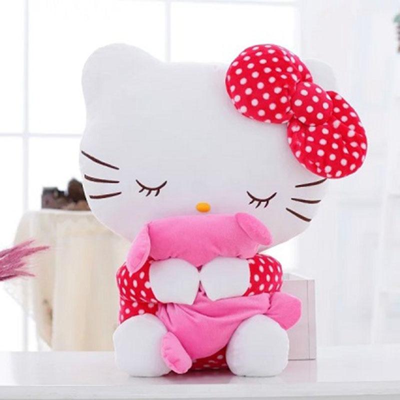20CM High Quality Kids Lovely Hello Kitty Plush Toys Hug Soft Pillows KT Cat Stuffed Dolls