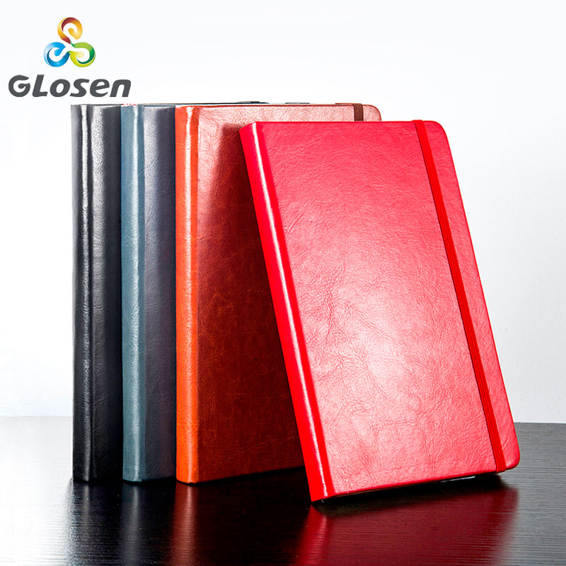 A5 Notebook Creative Business Office Notepad Stationery Thicken Leather Book Conference Record Book Multi color Glosen 8260 in Planners from Office School Supplies