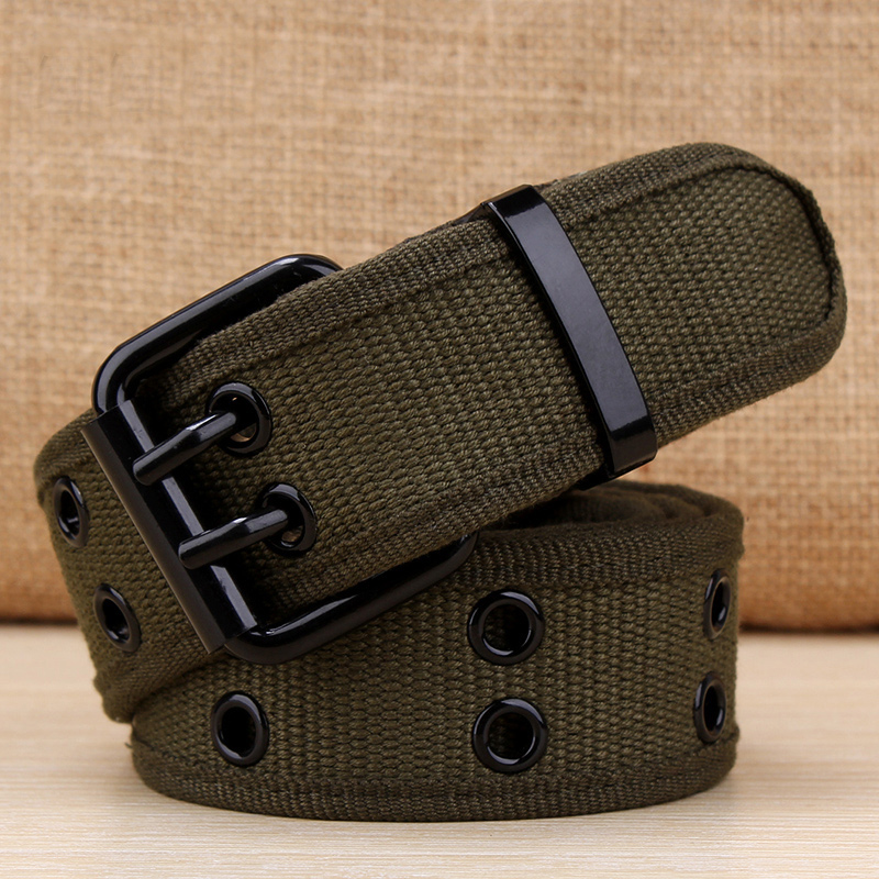 BAIEKU Young Men's Canvas   Belts   For jeans Women   Belts   Double needle buckle canvas   belt   student   belt   tactical 2018 high quality