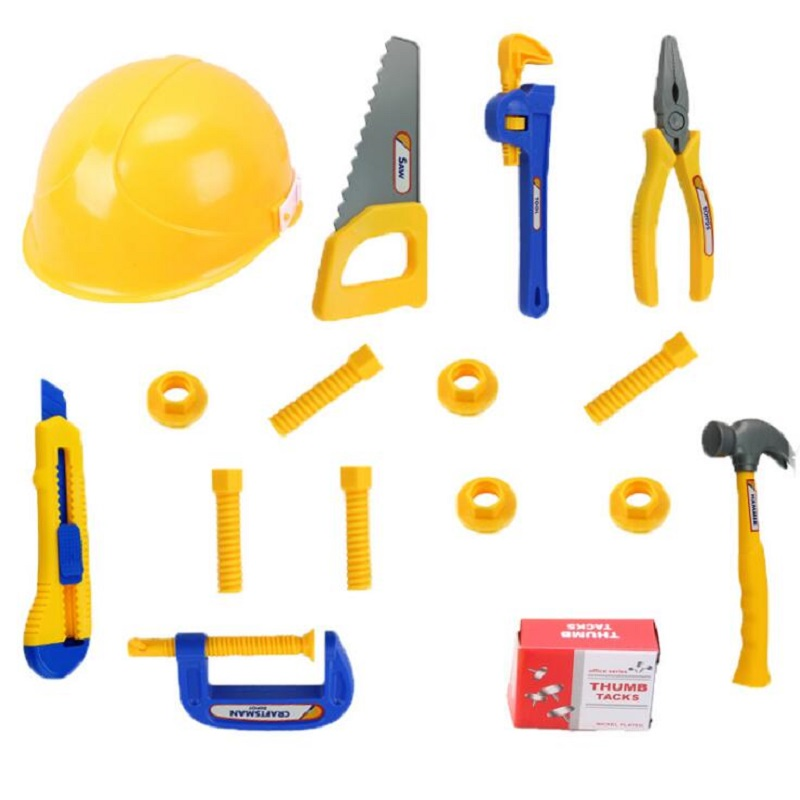 Fly AC Toy 27 Pieces Complete Tool Toy Set, Construction Tool Set, Pretend Play for Birthday/Xmas Gifts