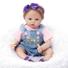 Silicone Bebê Reborn Boneca 55 cm Lifelike Bonecas Reborn Brinquedos para kid Presente de Aniversário Do Bebê Do Bebê Bebe Brinquedos SB5516 Reborn Boneca