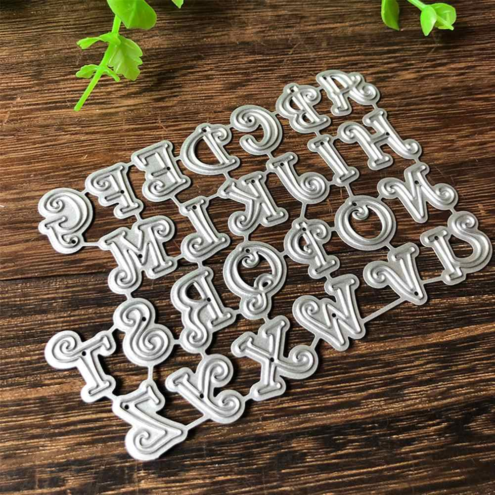 Capital Alphabet Letter Metal Cutting Die DIY Scrapbooking Paper Cards Stencil !