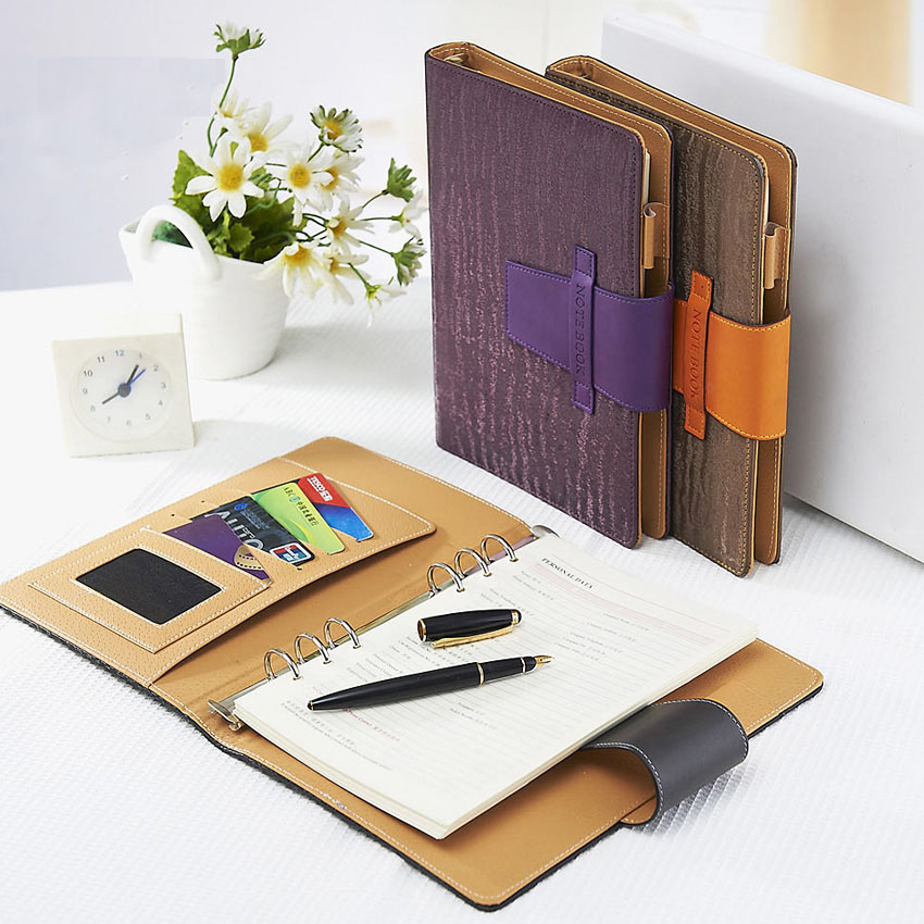 Leather Notebook Diary Business note book A5 paper 90 sheets Spiral Notepad Office School Supplies Notebooks gift fashion spiral diary notebook with lock code password paper 80 sheets business note book notepad office school supplies gift