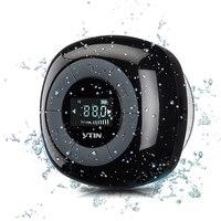 VTIN Mini waterproof wireless speaker FM radio bluetooth 4.0 build in microphone water resistant shower speaker with LCD screen
