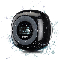 VTIN Mini Portable Wireless Speaker FM Radio Bluetooth 4.0 Build in Microphone Water Resistant Shower Speaker with LCD Screen