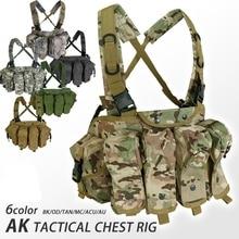 CQC AK нагрудная установка Molle тактический жилет военная армейская Экипировка AK 47 подсумок для подсумок на открытом воздухе для страйкбола пейнтбола охотничий жилет