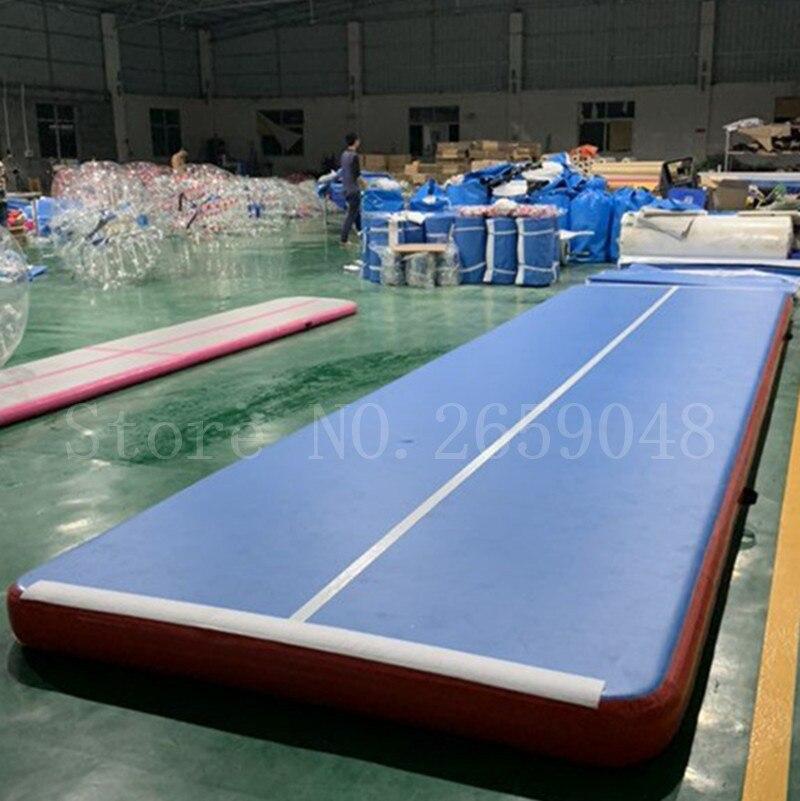 Livraison gratuite 6 m Air piste tapis de dégringolade 8 pouces d'épaisseur gonflable tapis de gymnastique dégringolade piste d'air tapis de sol