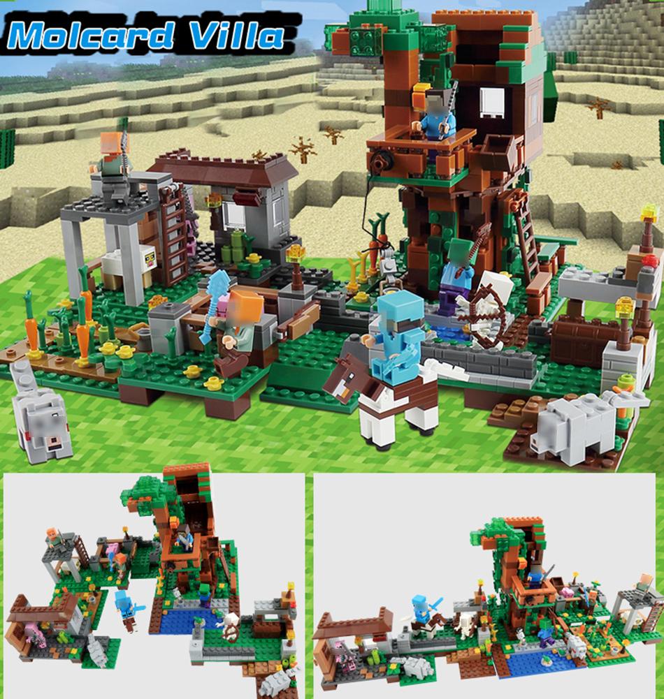 qunlong мой мир село здания конструктор замок игрушечные нагрузки дети подарок совместимость легое minecrafted строительство города конструкторы для мальчика подарок