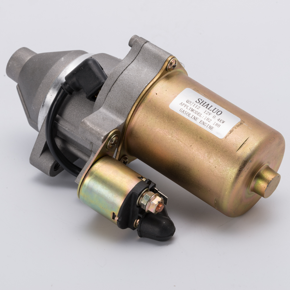 high quality QDJ112 182F 188F 5kw 6.5kw Gasoline Engine Starter Motor Part Electric Motor starter 12V generator starter assembly