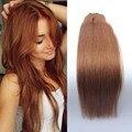 """Clip en productos conjuntos 7 unids clip en extensiones de cabello humano 12-28 """"recto Sedoso humano light Auburn extensiones de cabello"""