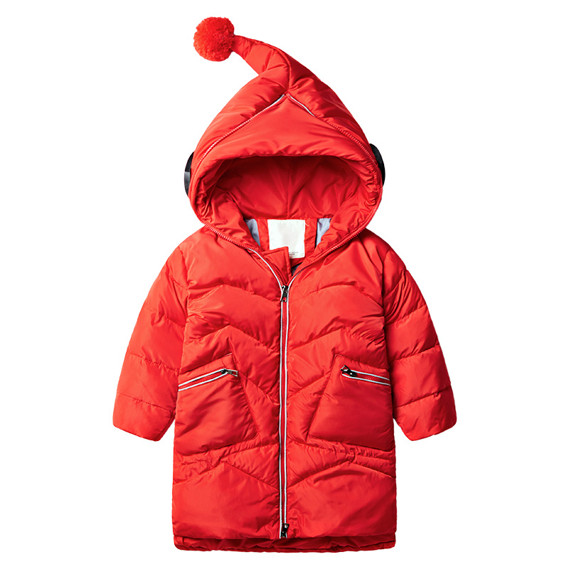 Fashion Warm Girl Winter Clothes Glasses Jacket Children Clothing Windbreaker Jackets Casual Hooded Girls Thick Warm Coat 2-7T 2017 jackets for girls clothes children clothing girls winter coat fashion thick cotton jacket parka kids clothes 12 13 years