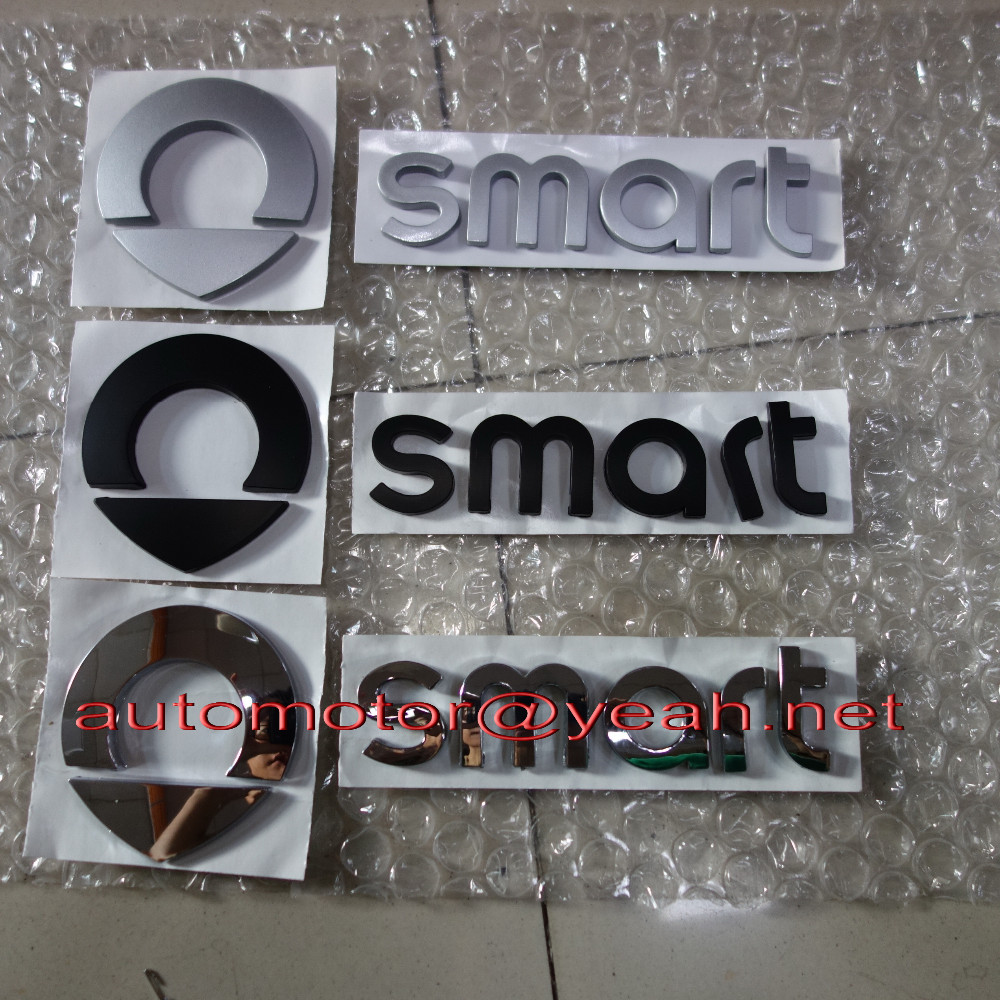Black//Chrome 3D Metal Limited Edition Badge for Smart ForTwo ForFour Coupe Roads