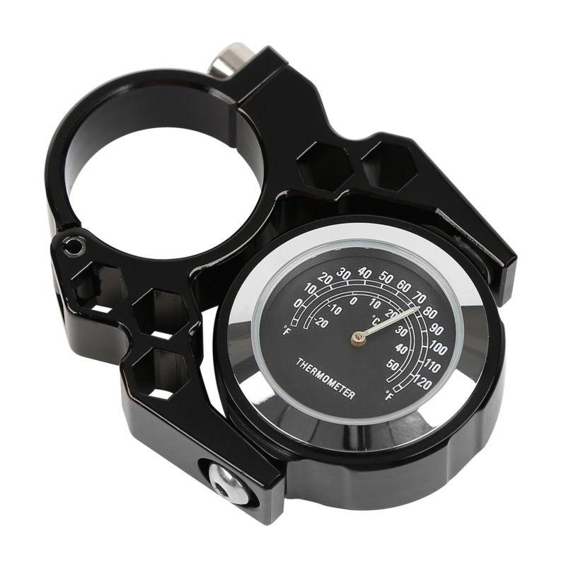 Motorcycle Universal 1'' Bar Handlebar Mount Dial Clock Watch Thermometer For Suzuki Honda Bike Yamaha Harley Cruiser Chopper