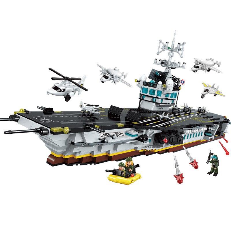 1007 個子供のビルディングブロックのおもちゃ互換 Legoingly 市軍事位置シリーズ大型航空機とキャリアモデルおもちゃ  グループ上の おもちゃ & ホビー からの モデル構築キット の中 1
