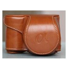 Защитный кожаный чехол Обложка сумка с для Sony Alpha a6000 6000 a6300 16-55 мм объектив камера сумка