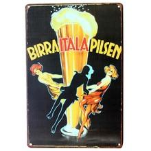Vintage, retro Beer drinking metal signs