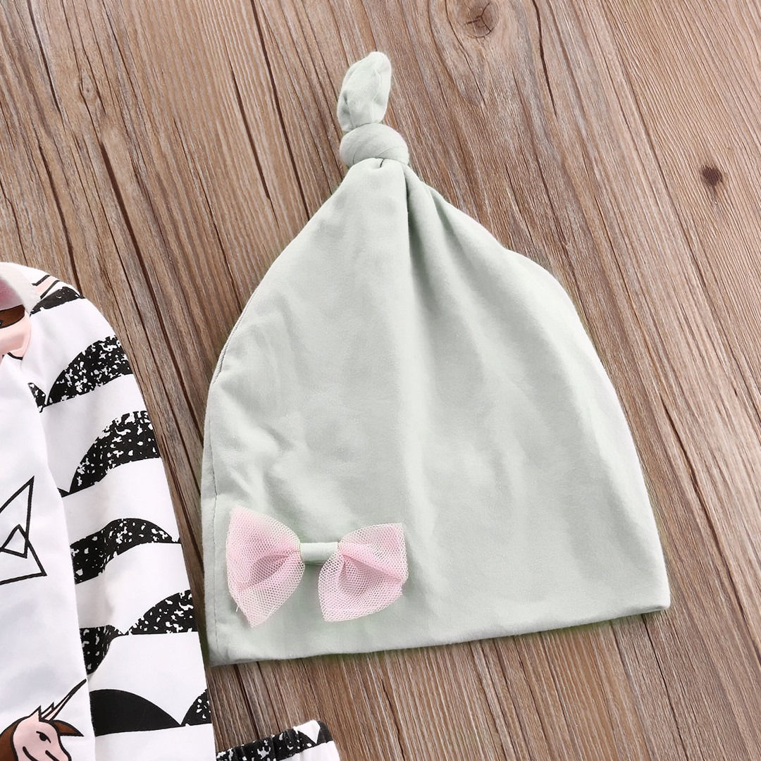 19eb0829b14ea Cute Newborn Baby Boy Girl Clothes Horse Tops +Long Pants Hat Cap Cotton  Horse Outfits 3PCS Set Boys Girls Clothes-in Clothing Sets from Mother &  Kids on ...