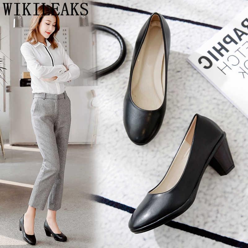 Nuovo arrivo 2019 di spessore tacchi scarpe ufficio donne scarpe di lusso delle donne designer donne pompe fetish tacchi alti pattini di vestito delle donne