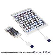 Совместимый комплект для камеры считыватель карт цифровой OTG кабель для передачи данных Needn't APP для iPhone pro 11 xs 5 6 7 8 X IPAD iOS 9,2-12
