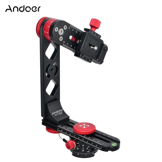 Andoer 720 תואר פנורמי ראש אלומיניום סגסוגת עם כדור ראש שחרור מהיר צלחת לשאת תיק עבור Nikon Canon Sony DSLR מצלמה