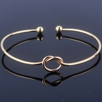50pcs Lot Hot Fashion Gold Color Knot Bangle Bracelet Bridesmaid Gift Cuff Bracelet For Women