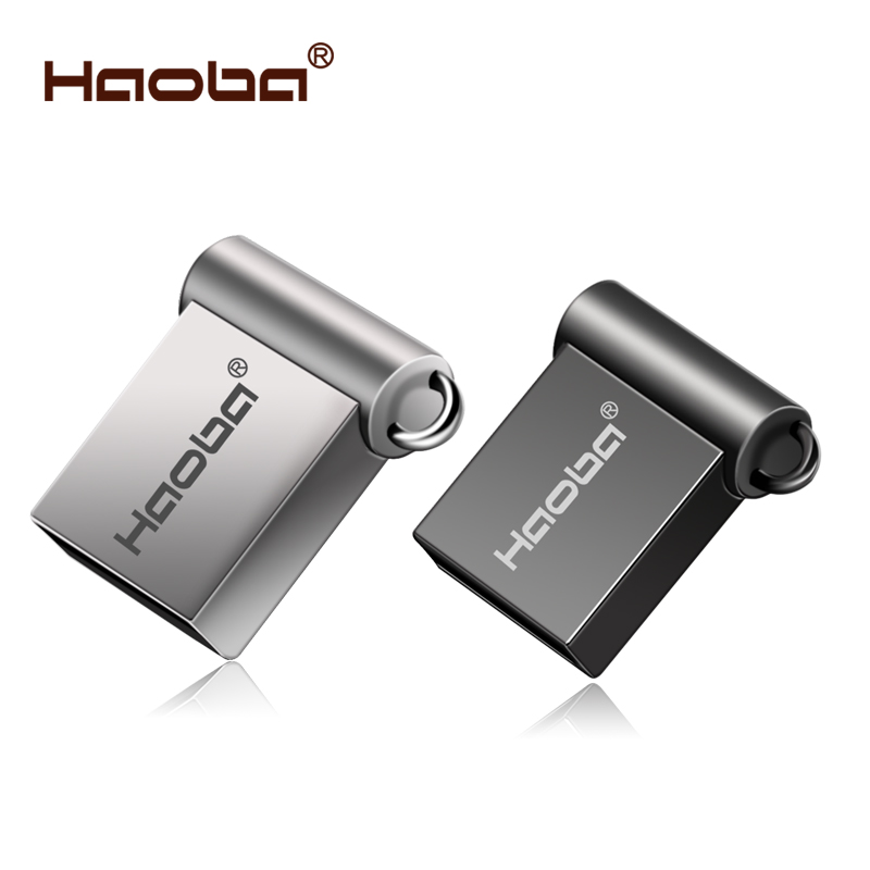 Fashion Super Mini metal usb flash drive 4GB 8GB 16GB pen Drive 32GB 64GB usb 2.0 flash stick pendrive free shipping cle usb(China)