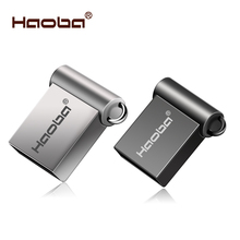 Moda Super Mini metal usb flash drive GB 8 4 GB 32 GB 64 16 GB pen Drive GB usb cle usb 2.0 flash vara frete grátis pendrive(China)