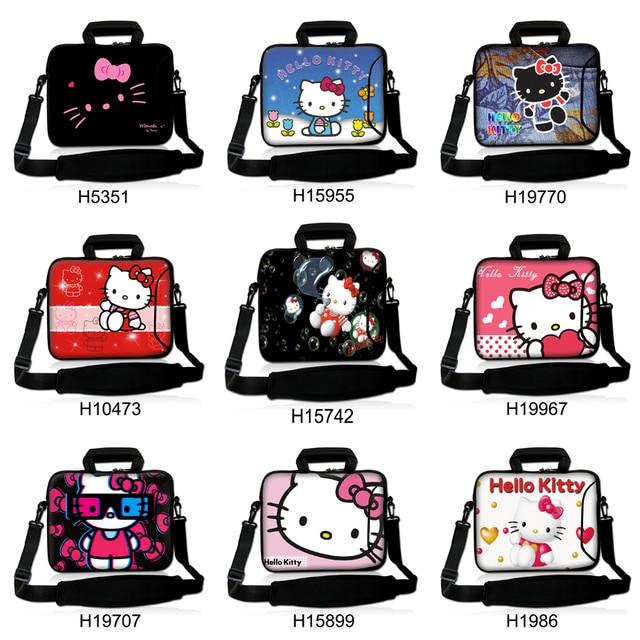 369ad1b77 Cute Cat Hello Kitty Design Laptop Shoulder Bag Notebook Sling Bag  Ultrabook Messenger Carrying Case 10