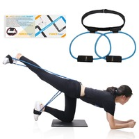 Booty Bands System Butt Workout Resistance Belt, Tone Firm and Build Lift Shape Glute and Lower Body Muscles Fitness Exercise