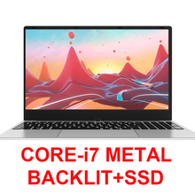 Core i7 Laptop 15.6 inch With 8G RAM 1TB 512G 256G 128G SSD Gaming Laptops Computer With Backlit Keyboard IPS Metal Notebook