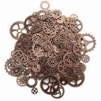 Über 120 gr/los DIY schmuck Machen Vintage Metall Gemischt Getriebe Steampunk Getriebe Anhänger Charms Armband Zubehör (Alte rot cop